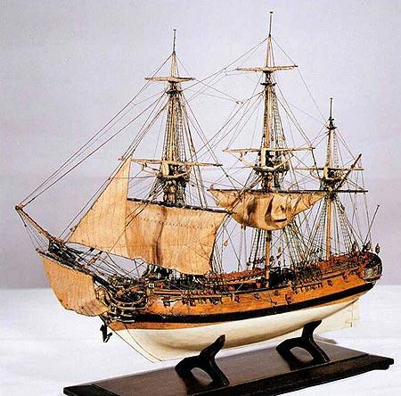 Модель корабля шестого ранга,