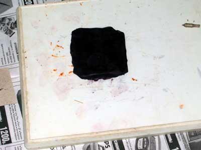 Раскатанный кусок пластилина
