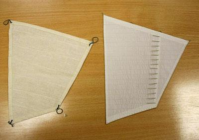 Паруса для корабля из ткани