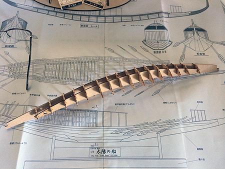 Сборка корпуса модели корабля