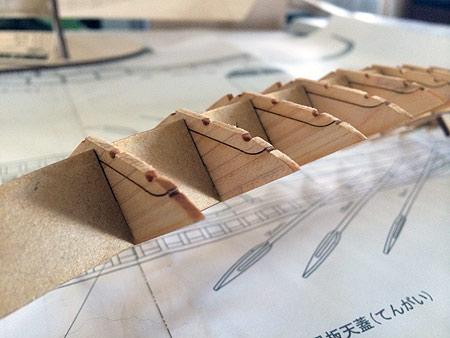 Сборка каркаса модели корабля