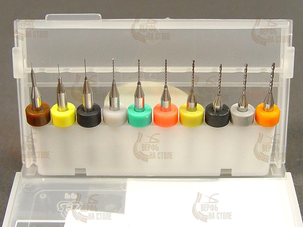 "Набор из 10 сверл от 0,1 до 1 мм RRM0110-TWN  - ""Верфь на столе"""