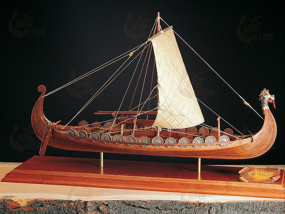 """Viking ship (Корабль викингов) AM1406-RUS Amati для начинающих - """"Верфь на столе"""""""