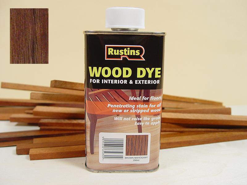 Rustins ebony wood dye shop vac shop sweep